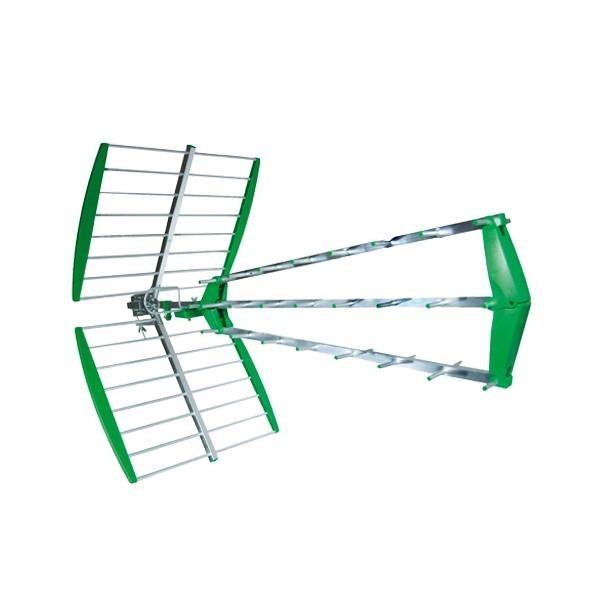Antena tdt en verde de 43 elementos y 15 db de ganancia - Precio antena tdt ...