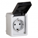 BASE DE ENCHUFE DE SUPERFICIE ESTANCA IP-54 CON TTL 16A