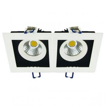 CARDAN LED 2 FOCOS CON 16W - 2x550 LM 24º BLANCO EN TONO FRÍO 6000K