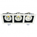 CARDAN LED 3 FOCOS CON 24W - 3x550 LM 24º BLANCO EN TONO FRÍO 6000K